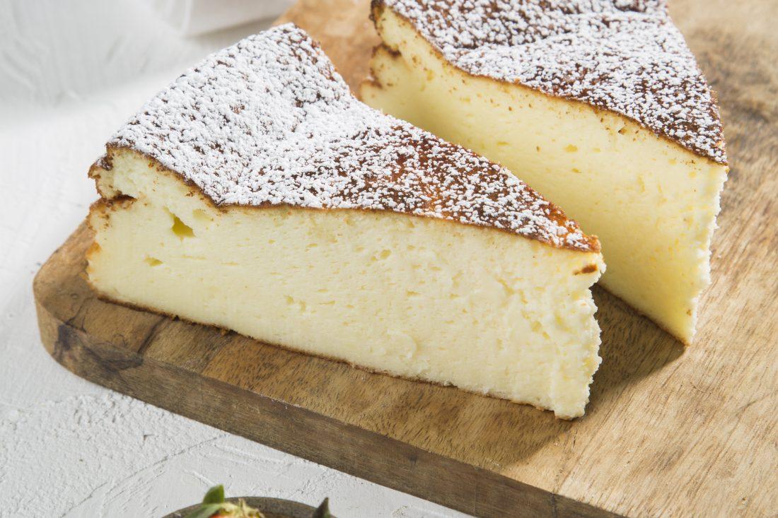 עוגת גבינה אפויה גבוהה, אוורירית ולא נסדקת