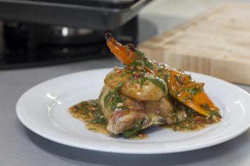 עוף בתנור ב-10 דקות עם רוטב צ'ילי מתוק