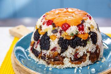אורז שמונת האוצרות עם פירות יבשים של ישראל אהרוני