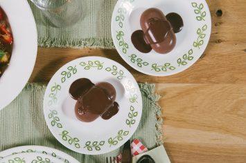 פנקוטה שוקולד ברוטב שוקולד