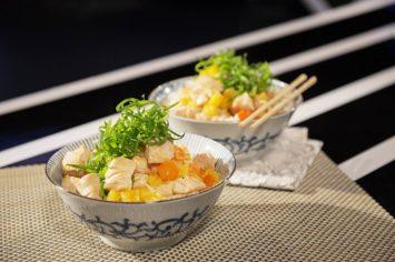עוף חמוץ מתוק עם אורז