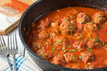 קציצות בשר ברוטב עגבניות של שר פיטנס