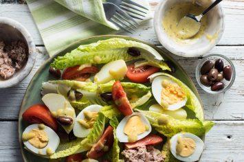 סלט ניסואז - סלט ירקות עם טונה של שר פיטנס