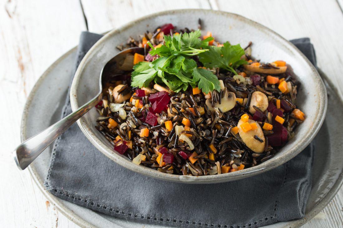 אורז בר עם ירקות