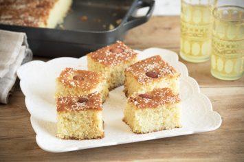 בסבוסה - עוגת סולת עם סירופ סוכר