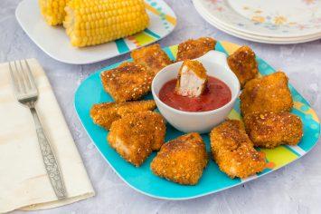 נאגטס עוף אפויים בתנור