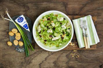 סלט ירוק עם גבינה כחולה וחמוציות