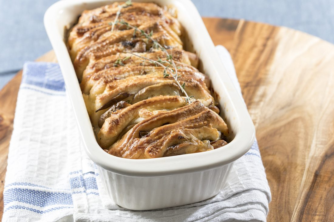 לחם גבינות ופטריות תלושותי
