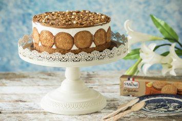 עוגת ביסקוויטים וקרם גבינה