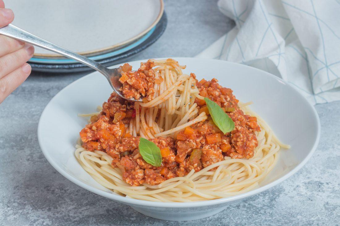 ספגטי בולונז עוף