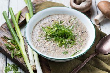 מרק פטריות טבעוני מהיר של עז תלם