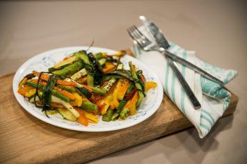 זר אנטיפסטי צבעוני ממגוון ירקות