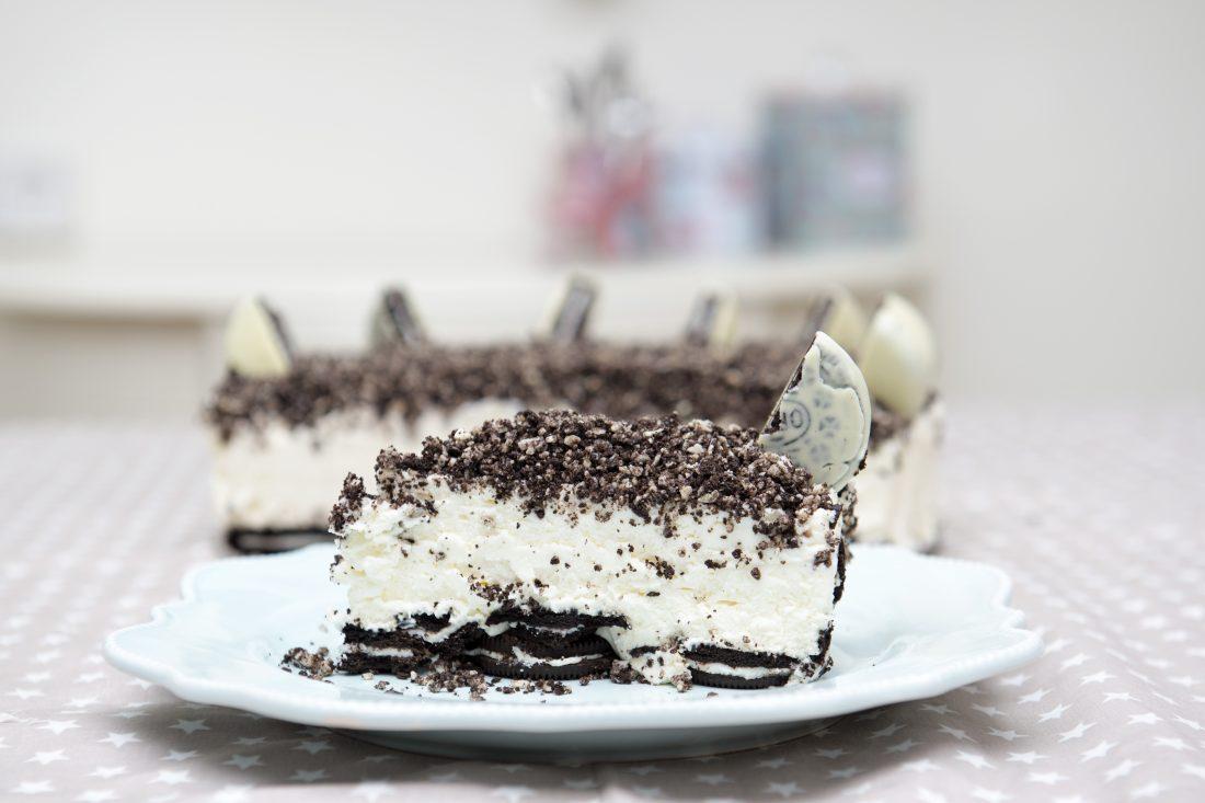 עוגת גבינה עם עוגיות אוראו. צילום: נועם פריסמן