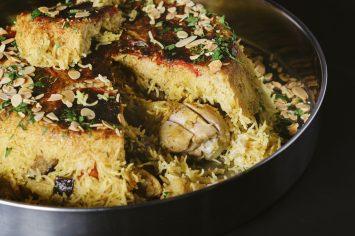 מקלובה - תבשיל אורז עם עוף וירקות