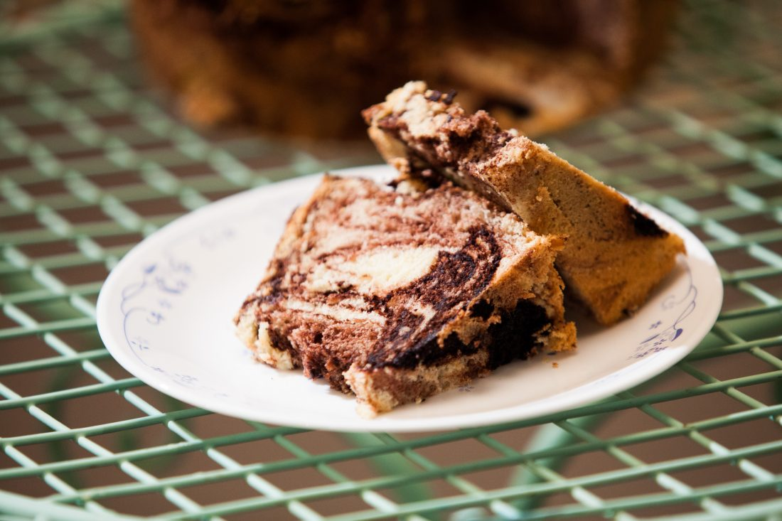 עוגת לייקח שיש שוקולד אוורירית