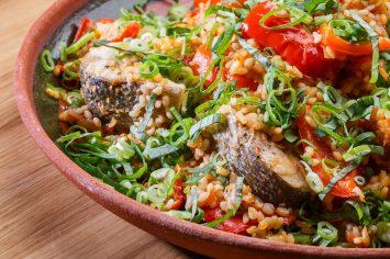תבשיל אורז עם דג ופלפלים של ישראל אהרוני