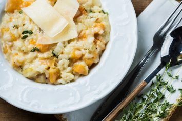 ריזוטו דלורית עם מלא גבינות נמסות