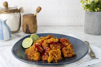 פופקורן עוף – נגיסי עוף פריכים בדבש