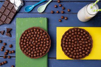 טארט שוקולד עם קישוטי קליק