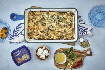 פשטידת מצות עם גבינות ומנגולד לחג הפסח
