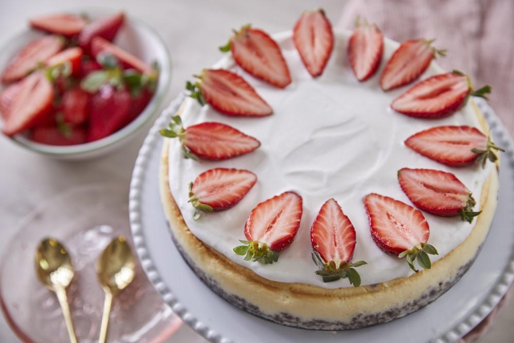 עוגת גבינה אפויה. צילום: אפיק גבאי