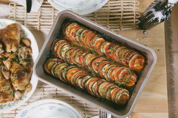 טיאן - מאפה ירקות צלויים פרובנסאלי