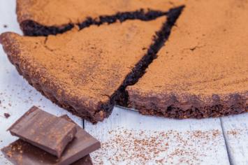 פאי שוקולד עם פקאן וקרמל ללא תוספת סוכר