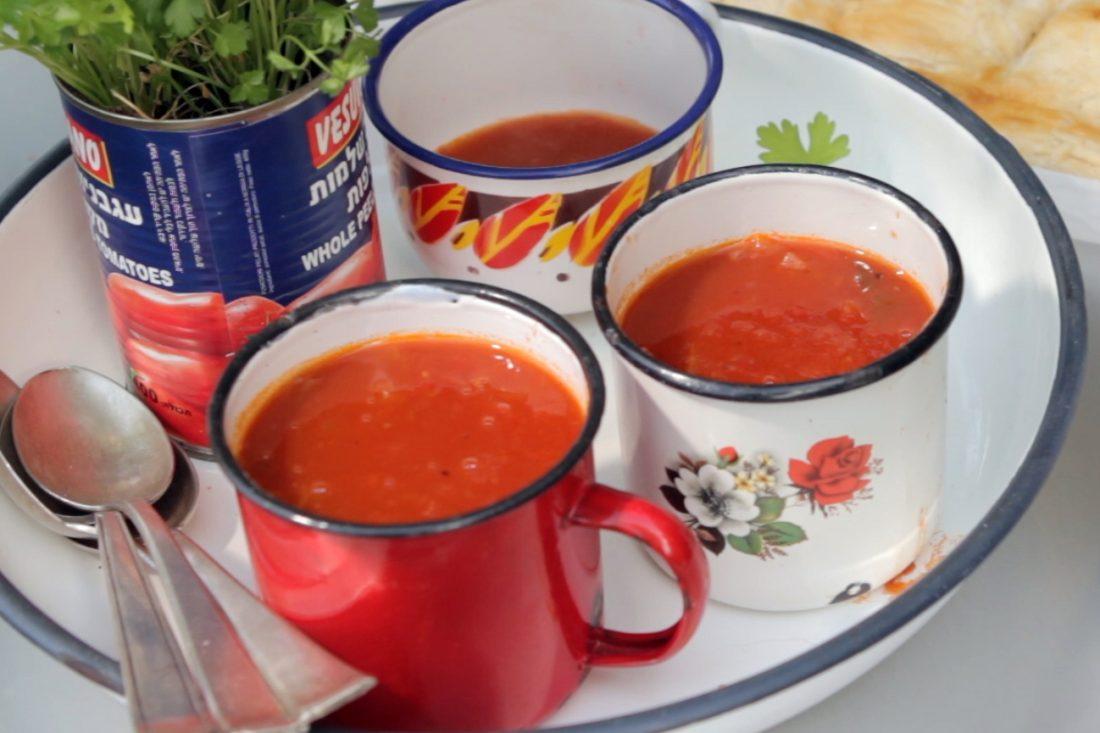 מרק עגבניות מהיר וקל הכנה