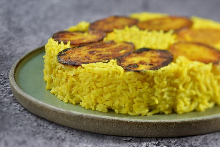 אורז פרסי עם תפוחי אדמה פריכים וזהובים. שי-בן-אפרים-5290a