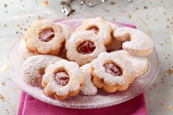 יש מתכון יותר טעים מזה? עוגיות פרח ריבה