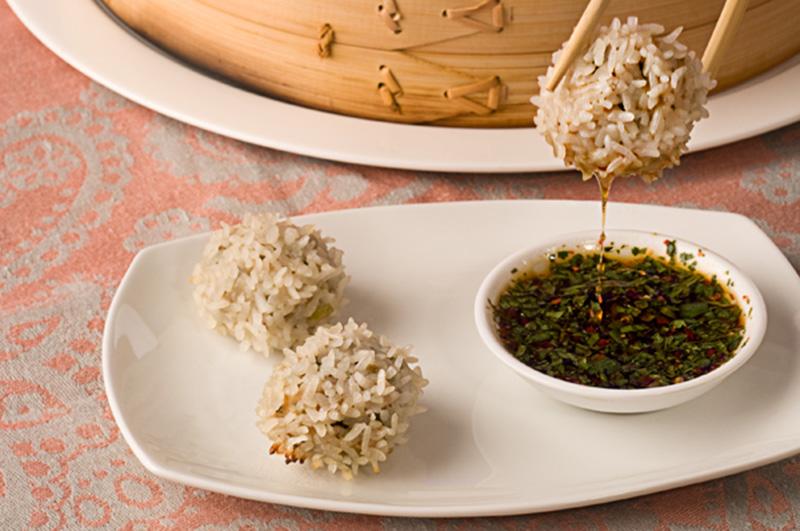 קציצות אורז ועוף בסגנון אסייתי
