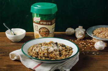 טעם של שדות - ריזוטו חיטה עם פטריות