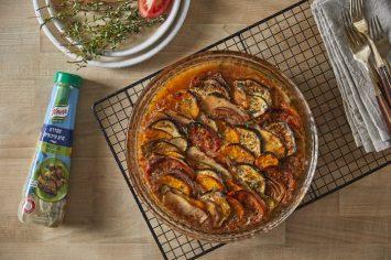 צמחונים ונהנים: רטטוי ירקות ברוטב שמן זית, לימון ועשבי תיבול
