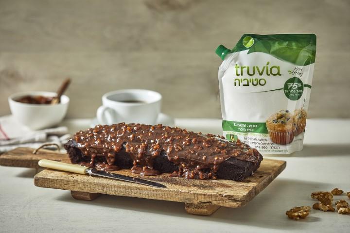 TRUVIA עוגת שוקולד בחושה (צילום: אפיק גבאי)
