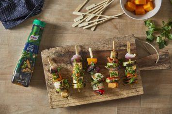 מתכננים על האש?  מה עם שיפודי ירקות בטריאקי וחמאת בוטנים?