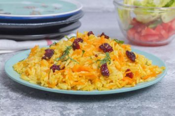 אורז צהוב עם גזר וחמוציות בנינג'ה פודי
