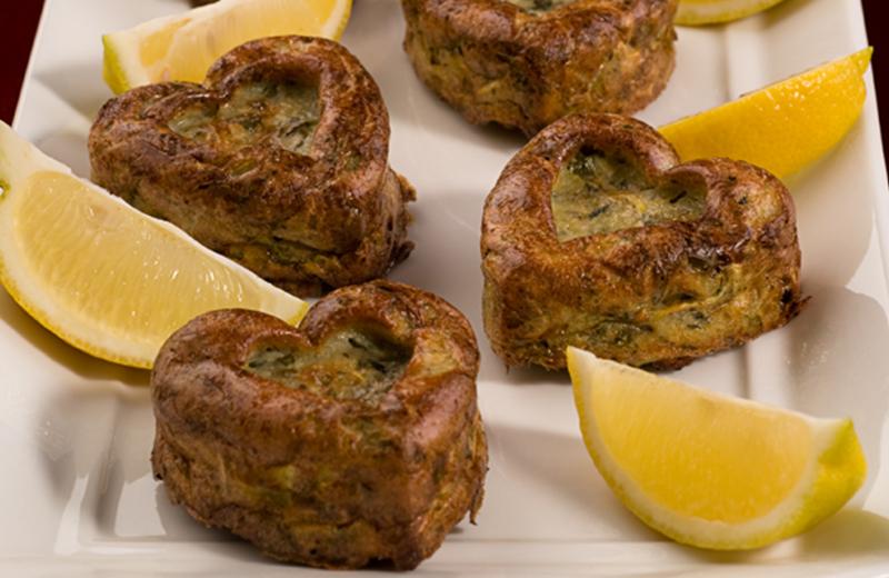 לביבות זוקיני וירקות אפויות בתנור
