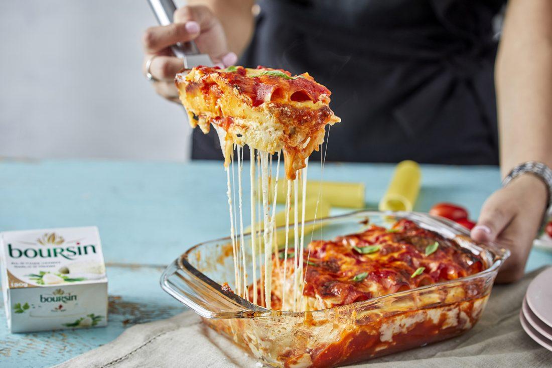 קנלוני במילוי גבינות ורוטב עגבניות. צילום: אפיק גבאי