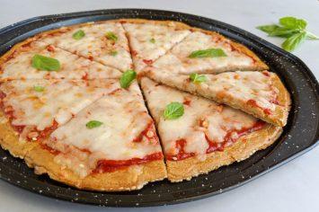 פיצה מבצק טחינה ללא גלוטן