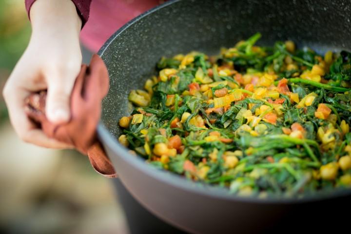 תבשילים בריאים ומזינים. מאמאצ'קה (צילום: שרון הורוביץ)