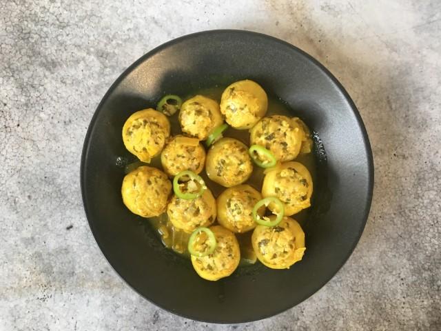 קולרבי ממולא ברוטב לימון