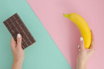 קינוח קליל של בננה ושוקולד
