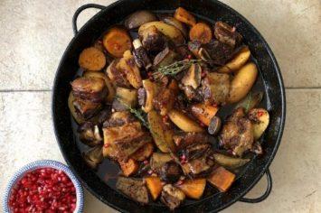 אסאדו עם ירקות שורש בתנור
