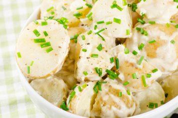 סלט תפוחי אדמה, מלפפונים ועירית