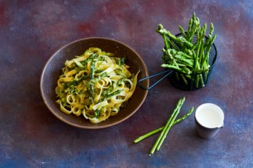 פסטה ירקות ירוקים, אנשובי וריקוטה