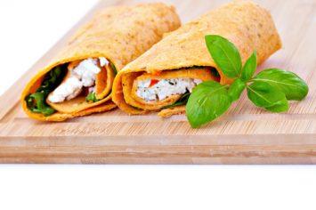 טורטיות במילוי גבינה ופלפלים קלויים