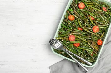 שעועית ירוקה עם עגבניות