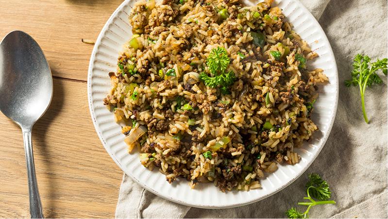 תבשיל אורז ובשר