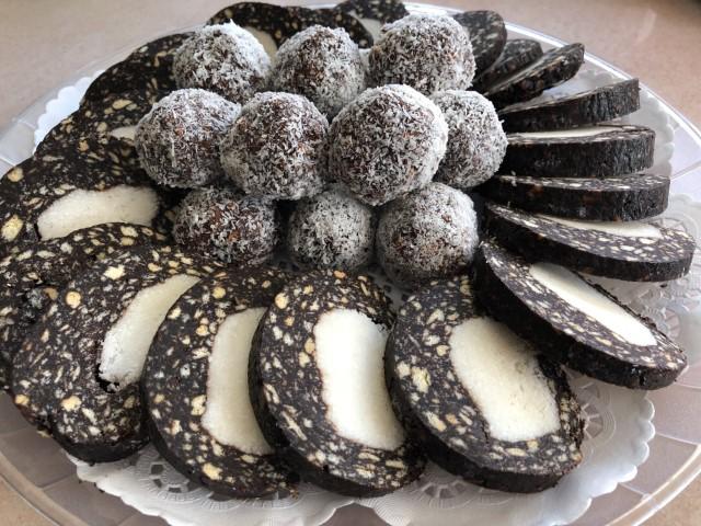 נקניק שוקולד וקוקוס טבעוני