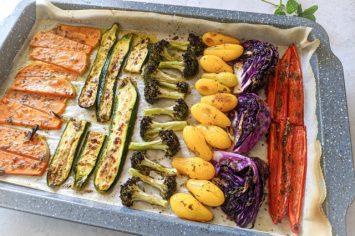 אורגנו מארגן לכם את החורף ומתכון ניחוחי של אנטיפסטי ירקות בתנור ברוטב מייפל ואורגנו